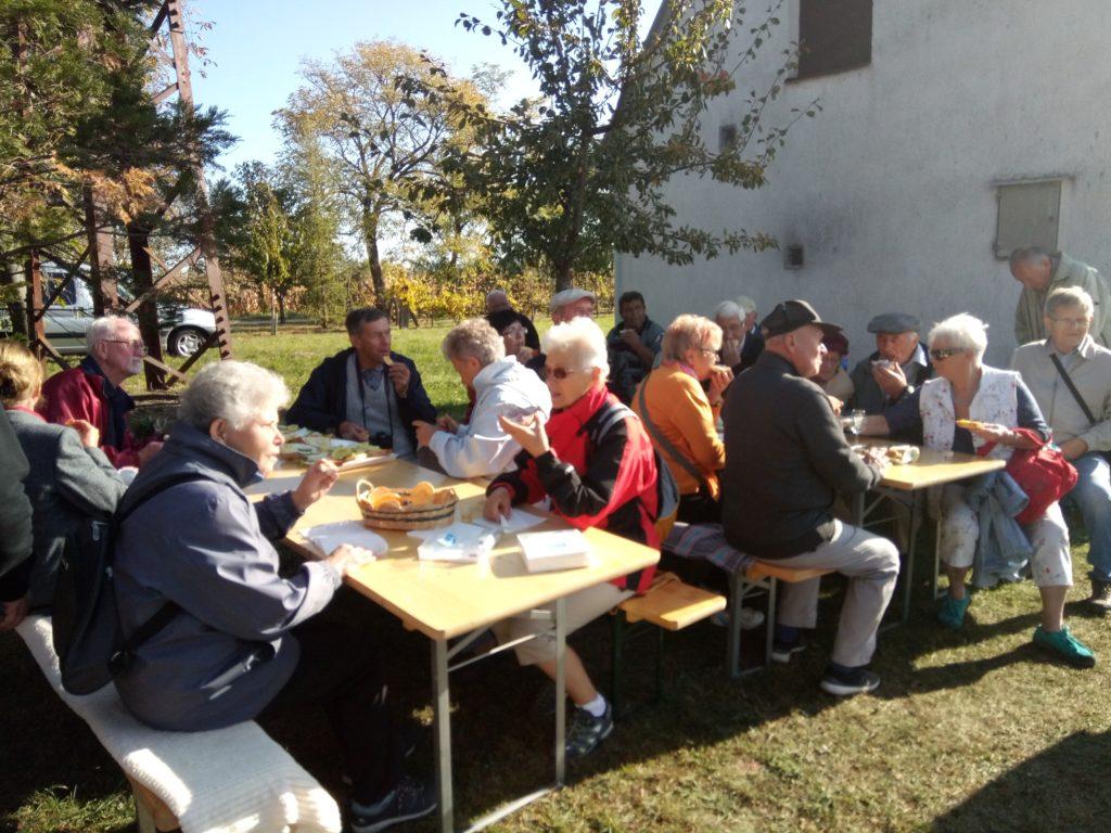 Egy kirándulás keretén belül látogatást tettek a Kertészek és Kertbarátok Győr Városi Egyesülete Tapolcafőn. A győri Kertbarátokat a tapolcafői kertbarátok fogadták (2019.10.17.)